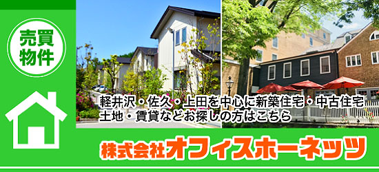 軽井沢・佐久・上田を中心に新築住宅・中古住宅 土地・賃貸などお探しの方はこちら